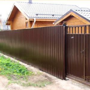 Забор из профлиста с рамкой