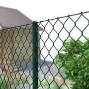 Забор и сетки рабицы в рамке